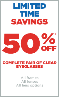 50% off Eyeglasses