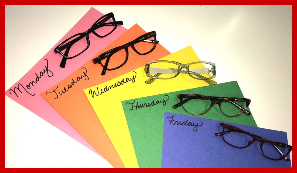 days of week eyewear